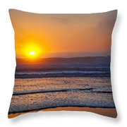 Crashing Calm Throw Pillow by Kelley King