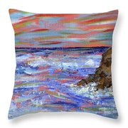 Crashing Of The Waves Throw Pillow