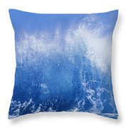 Crashing On Shore Throw Pillow by Vince Cavataio - Printscapes