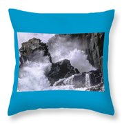 Crashing Wave At Quoddy Throw Pillow