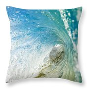 Crashing Wave Tube Throw Pillow
