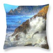 Crashing Waves 100 Throw Pillow