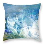 Crashing Waves Against The Shore Throw Pillow