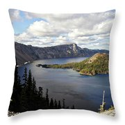 Crater Lake - Intense Blue Waters And Spectacular Views Throw Pillow