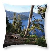 Crater Lake 9 Throw Pillow