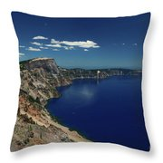 Crater Lake A Caldera Lake  Throw Pillow