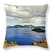 Crater Lake I Throw Pillow