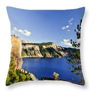 Crater Lake II Throw Pillow