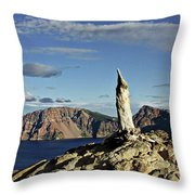 Crater Lake In The Southern Cascades Of Oregon Throw Pillow by Christine Till