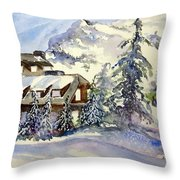 Crater Lake Lodge - Closed For Winter    Throw Pillow