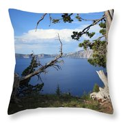Crater Lake Perspective Throw Pillow