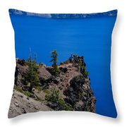Crater Lake Point Overlook Throw Pillow