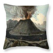 Crater Of Mount Vesuvius, Before 1767 Throw Pillow