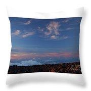 Crater Sunset Throw Pillow