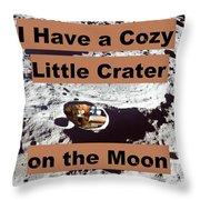 Crater1 Throw Pillow