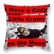 Crater2 Throw Pillow