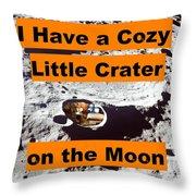 Crater3 Throw Pillow