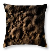 Craters Throw Pillow