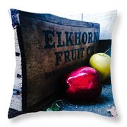 Crates Of Apples Throw Pillow