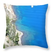 Crator Lake Shore Throw Pillow