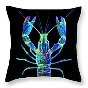 Crawfish In The Dark - Blublue Throw Pillow