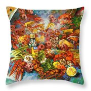 Crawfish Time Throw Pillow