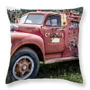 Crawford Fire Truck  Throw Pillow