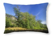 Crawford Notch State Park - Frankenstein Cliff White Mountains Nh Usa Throw Pillow