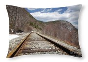 Crawford Notch State Park - Maine Central Railroad Throw Pillow