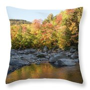 Crawford Notch State Park Throw Pillow