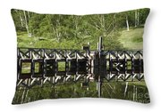Crawford Notch State Park - Willey Pond White Mountains Nh Throw Pillow