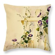 Crawling Flowers Throw Pillow