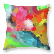 Crayons Line The Table Throw Pillow