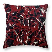 Crazy About Red Throw Pillow
