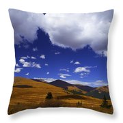 Crazy Blue Sky Throw Pillow
