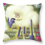 Crazy Cloud Guy. Throw Pillow
