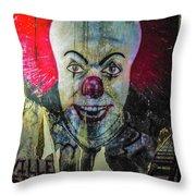 Crazy Clown Throw Pillow