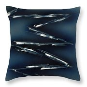 Crazy Cobalt Blue Throw Pillow