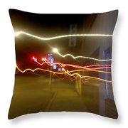 Crazy Duke Street Lights Throw Pillow