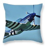 Crazy Horse From Air Show Throw Pillow