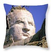 Crazy Horse In Progress II Throw Pillow