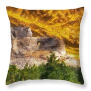 Crazy Horse Monument Pa Throw Pillow