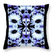 Crazy Lavender Daises Throw Pillow
