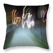 Crazy Lights Throw Pillow
