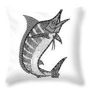 Crazy Marlin Throw Pillow