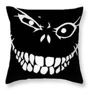 Crazy Monster Grin Throw Pillow