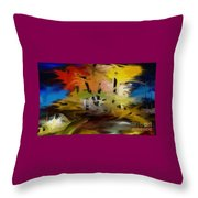 Crazy Nature Throw Pillow
