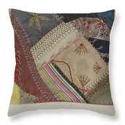 Crazy Quilt (detail) Throw Pillow