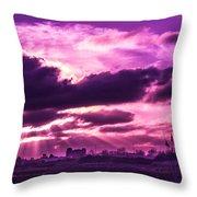 Crazy Sunset  Throw Pillow