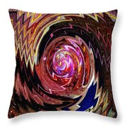 Crazy Swirl Art Throw Pillow